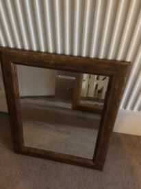 Modern Gilt-Edged landscape mirror