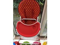 Mothercare strawberry high chair