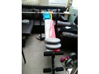 York weight lifting bench & weights