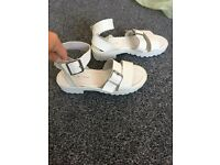 Brand New Womens or kids White sandals Size 2 Newlook