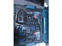 BOSCH GSB 12V-15 GDR 12v Twin pack LI Combi Hammer Drill Impact Driver 2.0 batts