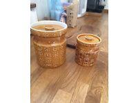 Pair of Portmeirion Totem storage jars