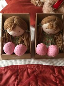 Microwavable rag dolls