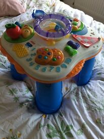 Toddler Music & Alphabet Activy Table