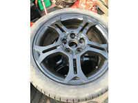 5 stud alloy wheels 17 inch with good tyres