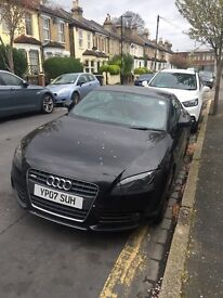 Black Audi TT 07 Plate