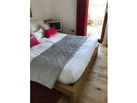 Ikea Malm Kingsize bed + mattress + bed side tables