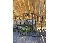 Vintage Edinburgh Colonies Cast Iron Garden Gate - height 89cm x width 83cm x depth 3cm