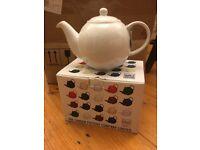 The London pottery Co Ltd 6-cup Globe Teapot, white.