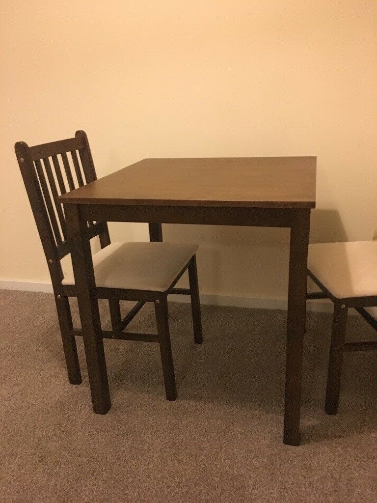 Brown dining set, like new