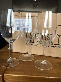 12 Riedel Crystal Wine Glasses