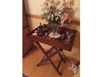 Antique Bultler's tray and stand