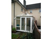 Conservatory 2.3m High 4.5m long 2.5m wide 2.8m peak height. Good condition. Dismantled