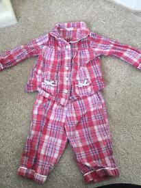 Baby girls pyjamas 3-6 months
