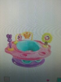 Baby girl booster play seat