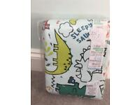 NEXT Dylan the dinosaur CURTAINS. NEW!