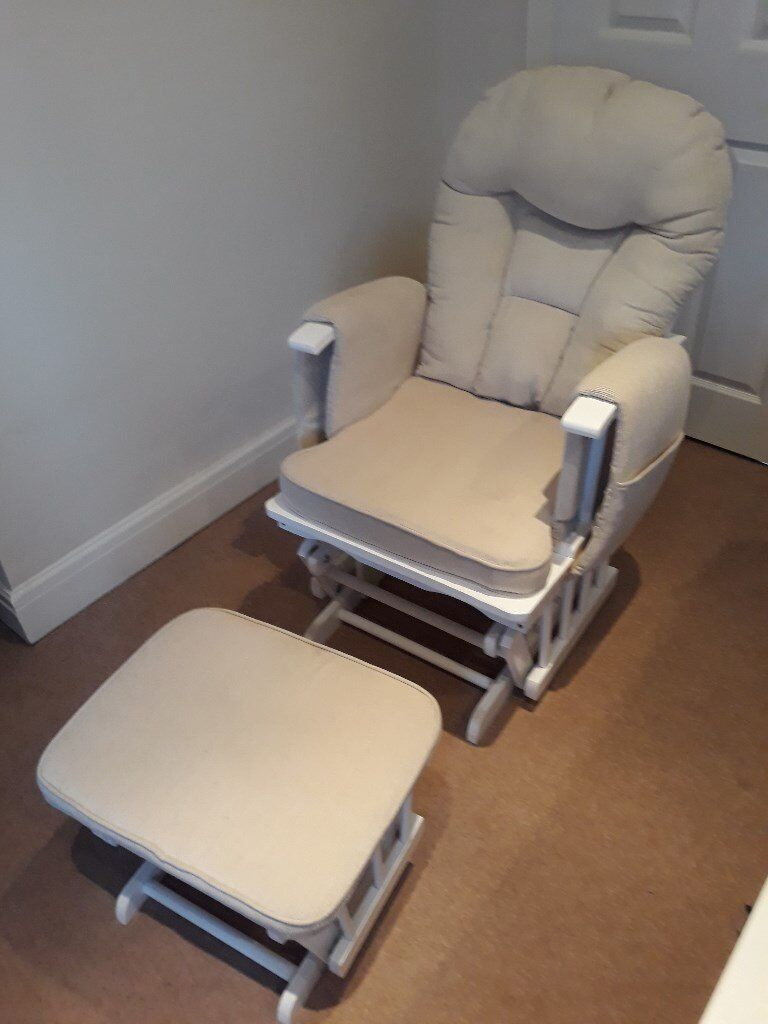 white Nursery Decoration & Furniture Serenity Nursing Glider Maternity Chair White With Footstool …