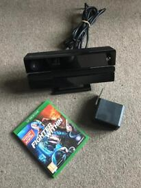 Xbox one original Kinect v2 sensor and fighter within game