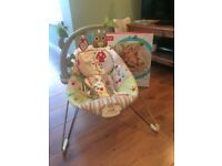 Fisher-Price Woodsy Friends Comfy Time Baby Bouncer