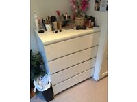White Ikea Chest of Drawers - 4 Drawer Version