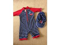 UV swimsuit all in one 6-9 months