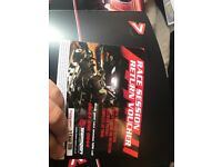 Team sport open timed race session ticket for sale.