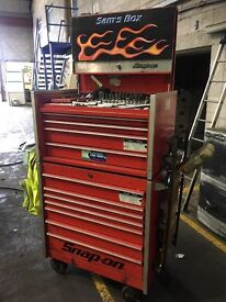 Snap on tool box krl roll cab and top box
