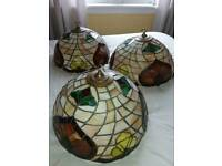 Set of 3 Tiffany Lightshades