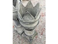 Pr of crown chimney pots