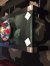 Large glass coffee table for sale
