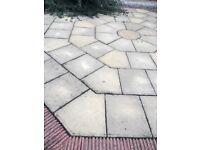Large hexagon patio garden slabs £100