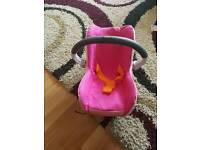 Maxi cosi dolls car seats.. fits on pram in picture.