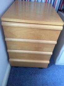Pine Wood Chest of Drawers