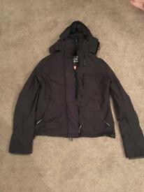 Superdry boys large black coat/jacket