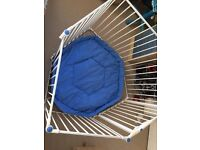 Lindam's child's playpen with blue mat