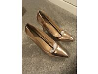 Ladies Shoes - Sole Diva Rose Gold Court Heels Size 6