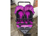 Out n About Nipper V4 Double Pushchair Purple Punch