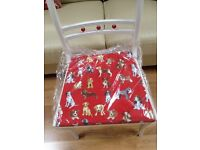 Beautiful Chair with Dog Material Seat Cushion