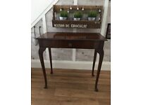 Vintage Queen Anne console table