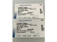 Swans v Stoke away tickets x 2 adult