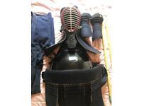 Kendo armor bogu set with shinai