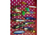 A selection of lures ,floats,flys
