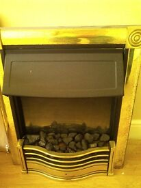 Electric Fire with coal