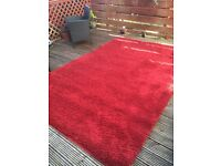 Large cozy red rug from Next