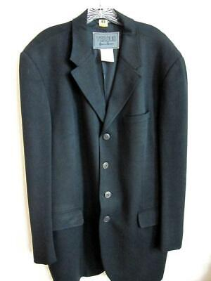 Gianni Versace Versus BLACK 4 Button Dress Blazer Coat Jacket Sz 40 Long 54 IT