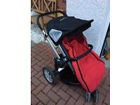 Quinnie buzz with carrycot and cozy toes foot muff