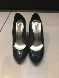 Gorgeous Dune patent leather shoes size 5