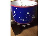Children's Blue Star Lampshade