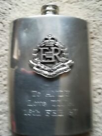R.M.P Solid Pewter 8 oz Hip Flask