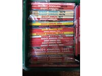 Shoot Football Annuals x 30 all V Good Condition from 1971 -